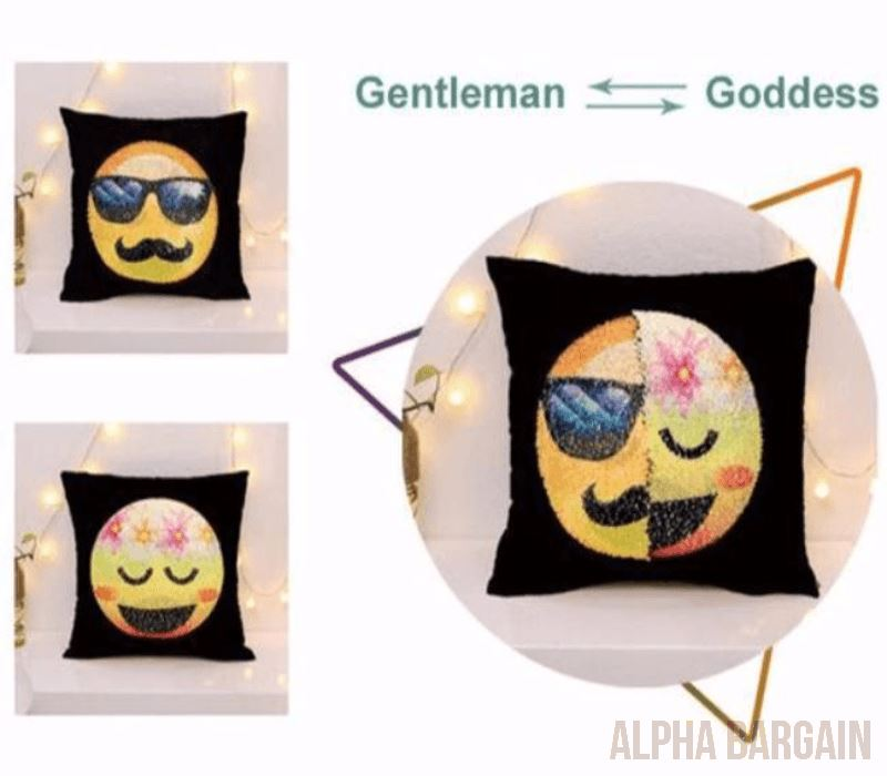 Face Changing Emoji Pillow Covers Alpha Bargain