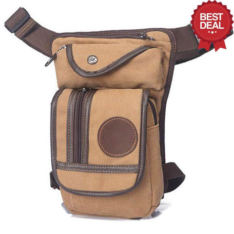 Image of High Quality Leg Bag Alpha Bargain Khaki