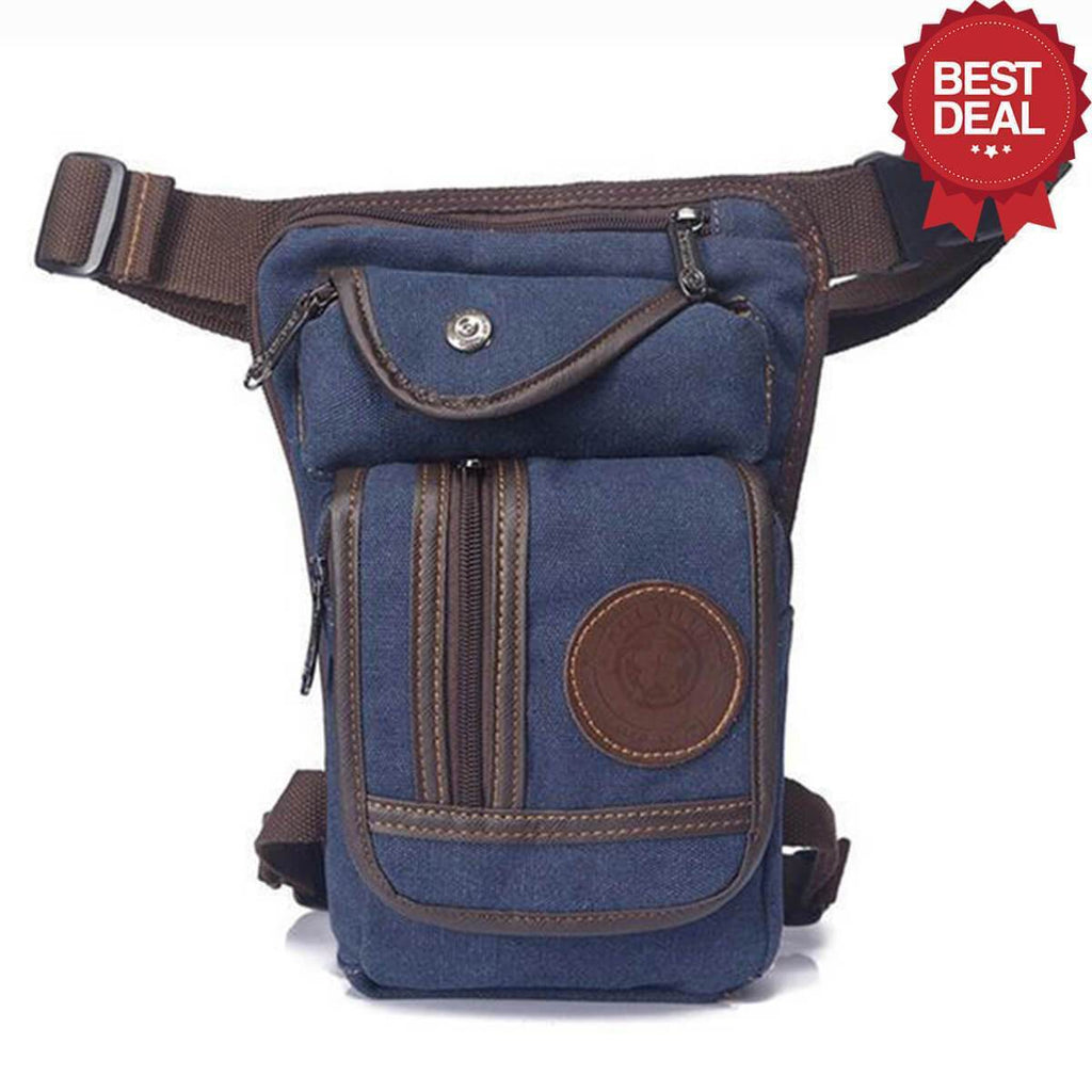 High Quality Leg Bag Alpha Bargain Navy