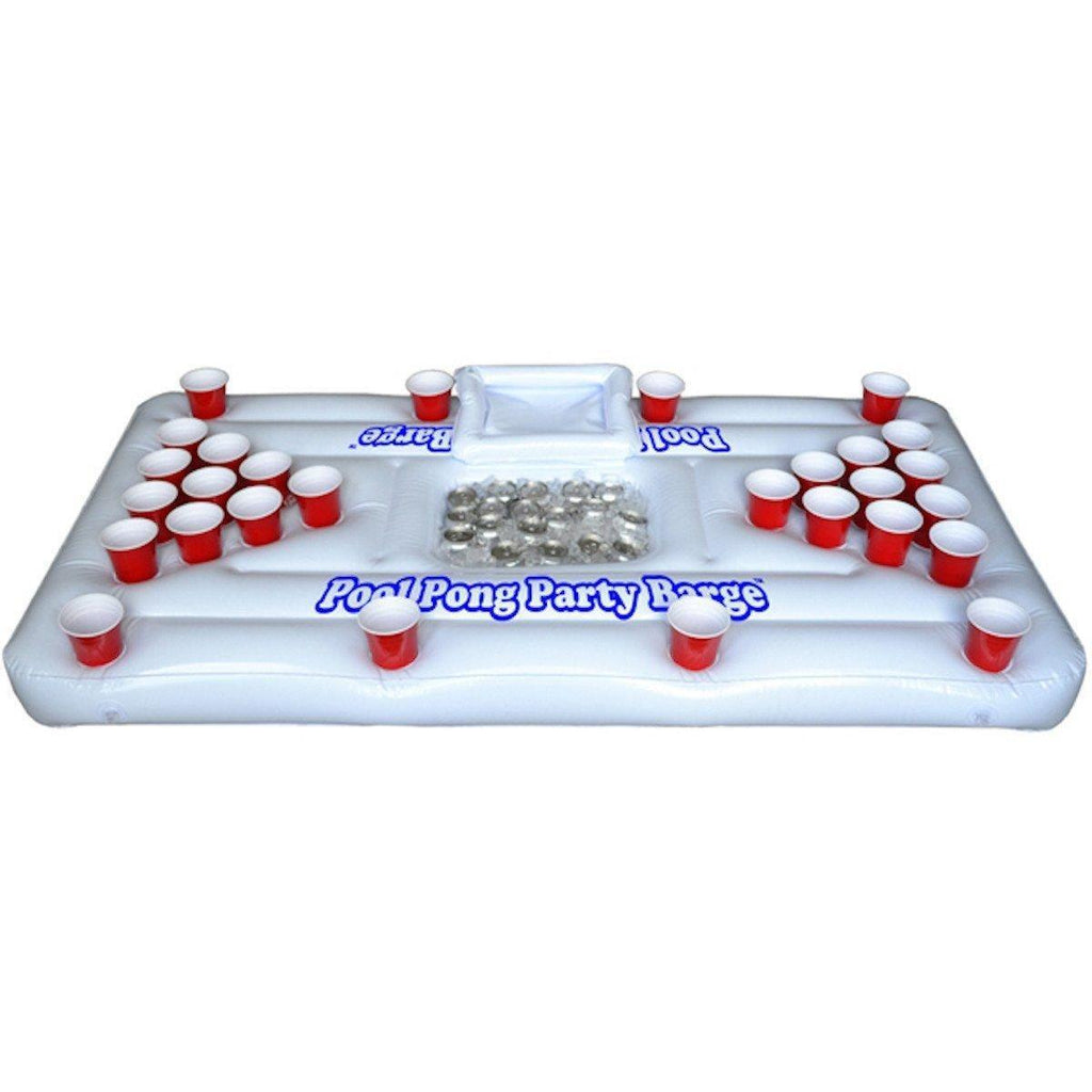 XL Deluxe 28 Cup Inflatable Beer Pong Table Pool Float - Alpha Bargain