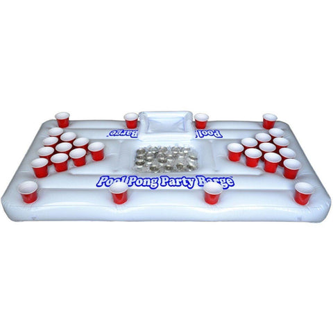 Image of XL Deluxe 28 Cup Inflatable Beer Pong Table Pool Float - Alpha Bargain