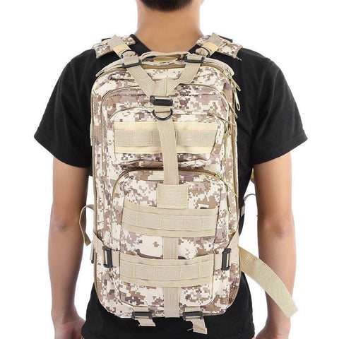 Image of Military Tactical Backpack Great For Camping, Hunting, Hiking Vital Survivalist 8