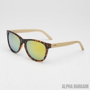 Buy 3 Get 1 Free - Veithdia Bamboo Wood Sunglasses - 13 Colors Available - Alpha Bargain