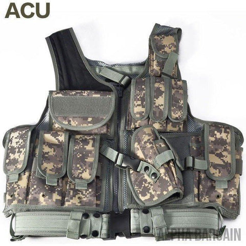 Image of ABC Police Tactical Hunting Vest Vital Survivalist ACU One Size