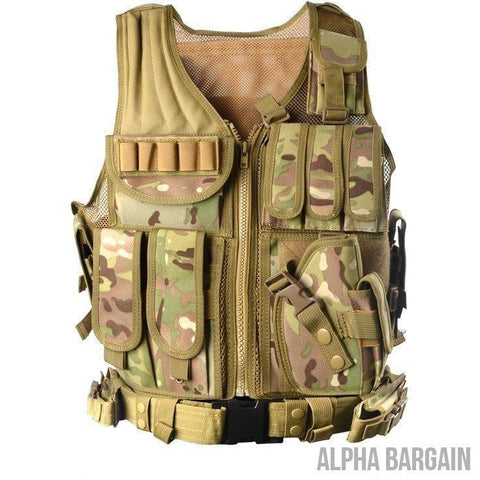Image of ABC Police Tactical Hunting Vest Vital Survivalist CP One Size