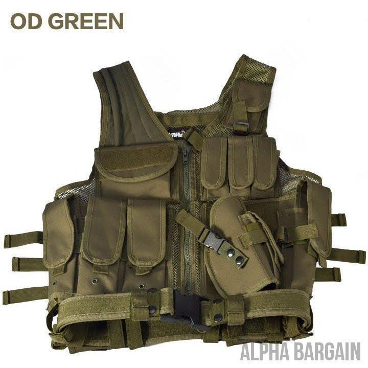 ABC Police Tactical Hunting Vest Vital Survivalist Od green One Size