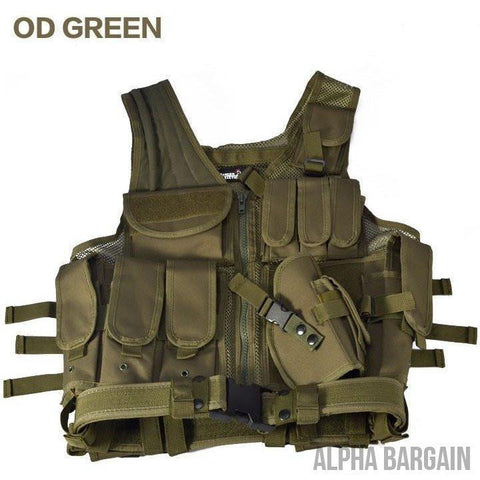 Image of ABC Police Tactical Hunting Vest Vital Survivalist Od green One Size