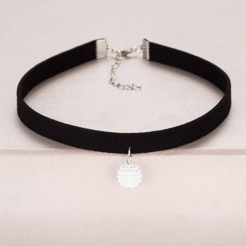Pendant Choker Necklace Alpha Bargain Silver