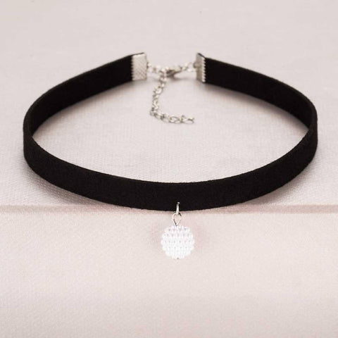 Image of Pendant Choker Necklace Alpha Bargain Silver