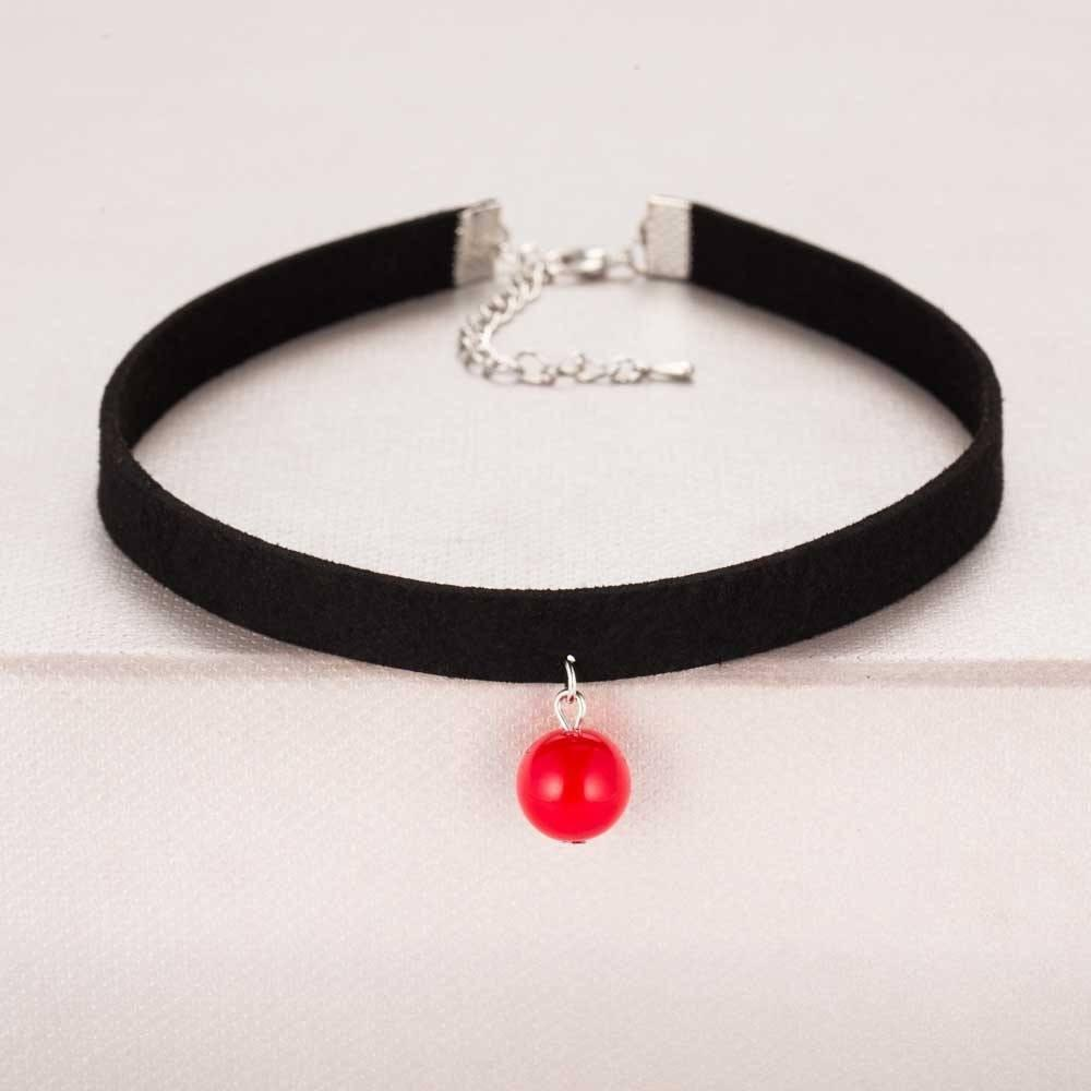 Pendant Choker Necklace Alpha Bargain Red