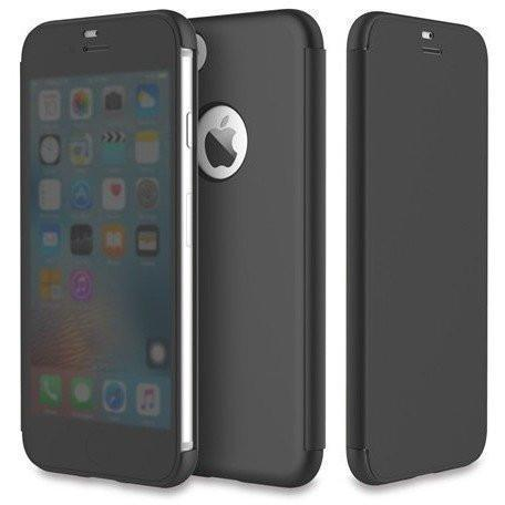 Image of Rock Smart Transparent View Flip case for iPhone 7 - Alpha Bargain