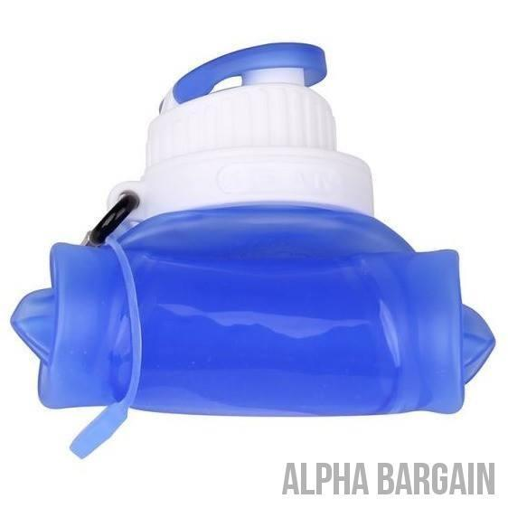 500ml Eco-Friendly Silicone Travel Collapsible Water Bottles Alpha Bargain