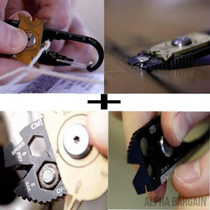 20 In 1 EDC Outdoor Multi Tool Stainless Steel Keychain - Alpha Bargain