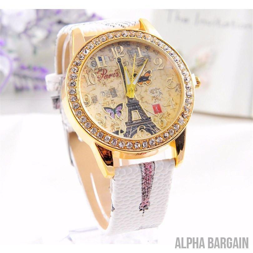 Crazy Deals Luxury Paris Leather Watch - Alpha Bargain