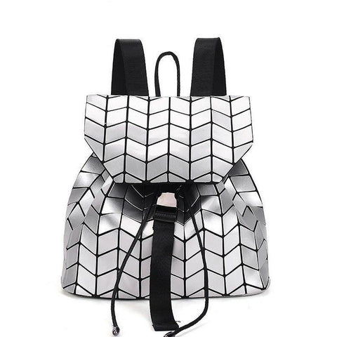 The Geometry Backpack Alpha Bargain Silver