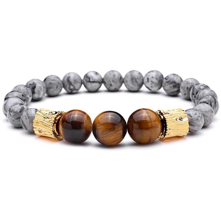 Gorgeous Tiger Eye Natural Stone Buddha Bracelet - Alpha Bargain