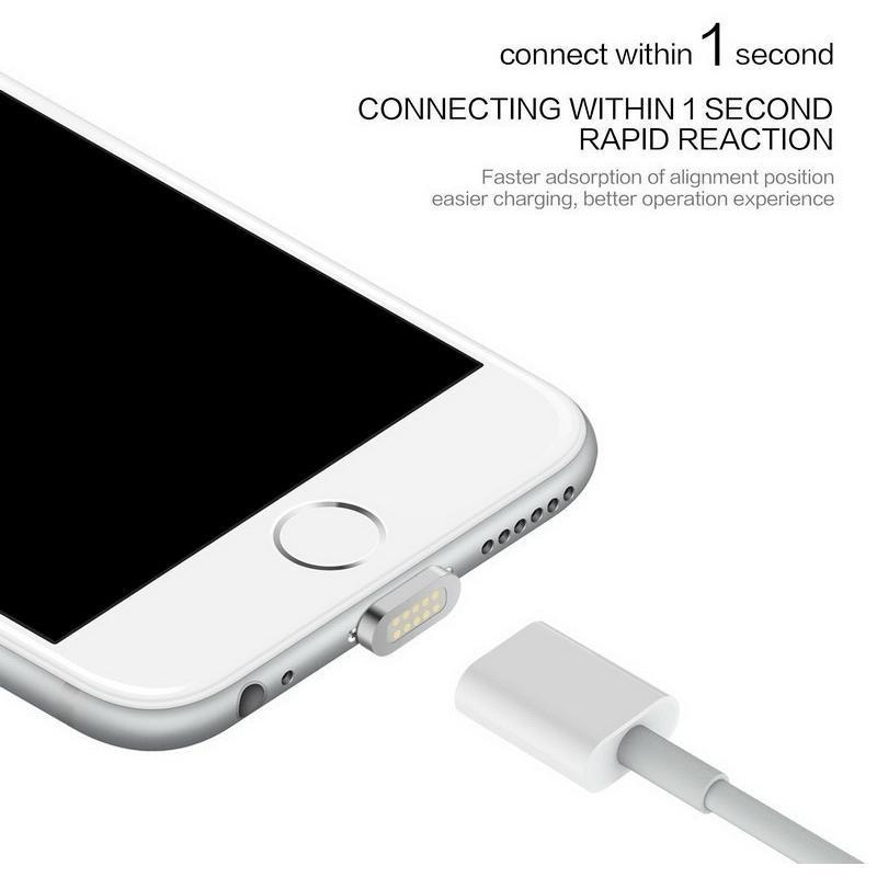 Magnetic Charging Cable For Samsung & Apple iPhone - Alpha Bargain
