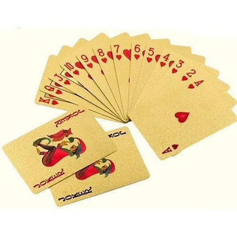 Image of Luxury 24K Gold Foil Poker Playing Cards - Alpha Bargain