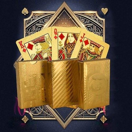 Luxury 24K Gold Foil Poker Playing Cards Alpha Bargain