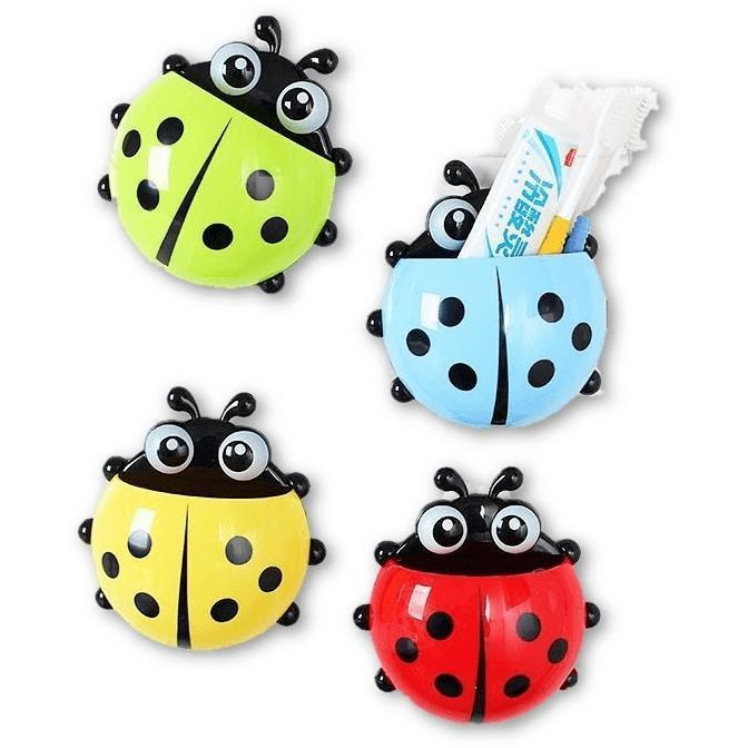 Lovely Ladybug Toothbrush Wall Suction Mount - Alpha Bargain