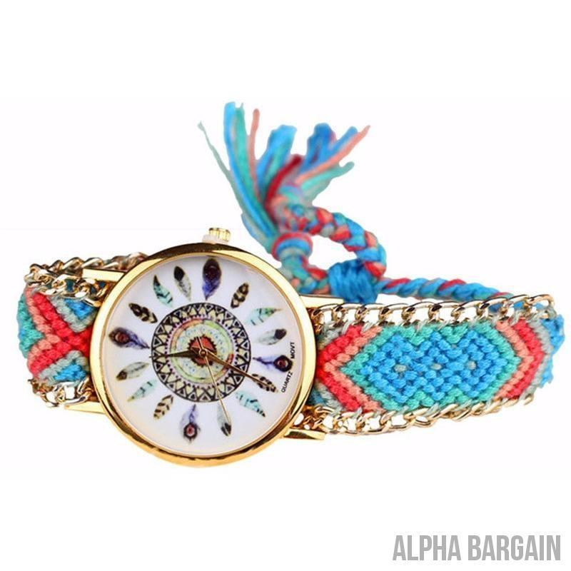 Crazy Deals Limited Weaving Colored Watch - Alpha Bargain