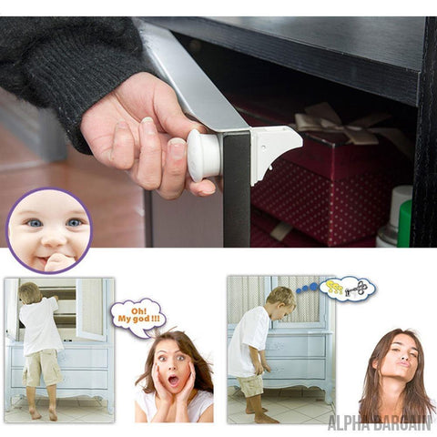Image of Baby Safety Magnetic Cabinet Locks Vital Survivalist