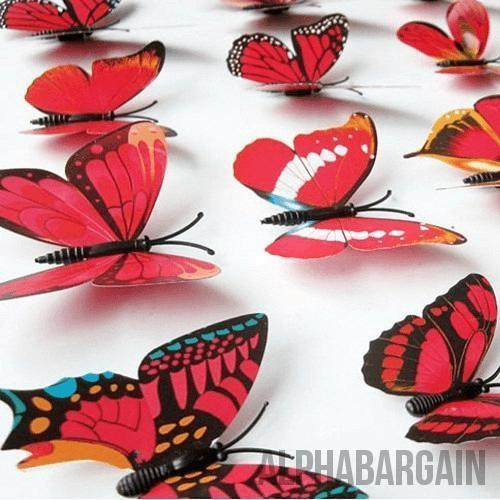 3D Butterfly Wall Stickers - Buy 3 Get 1 FREE! Alpha Bargain