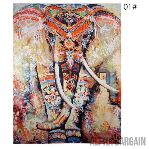 Image of ELEPHANT TAPESTRY Alpha Bargain Decorated Love 210x150cm