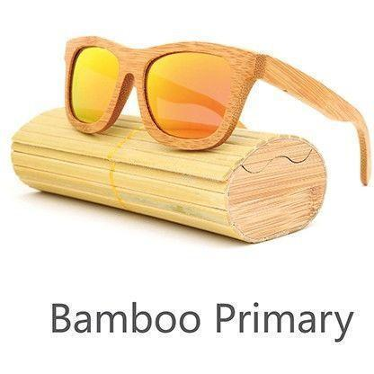 Image of New Handmade Bamboo Sunglasses Alpha Bargain Red