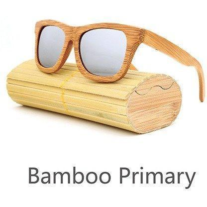 Image of New Handmade Bamboo Sunglasses Alpha Bargain Silver