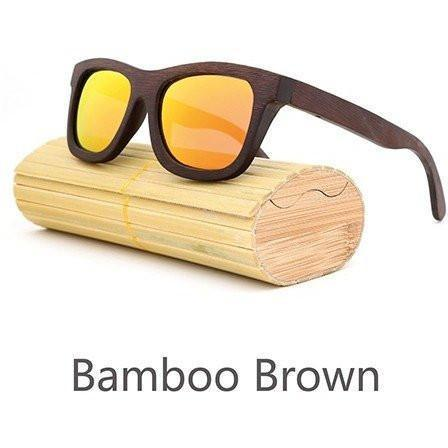 Image of New Handmade Bamboo Sunglasses Alpha Bargain Red 1