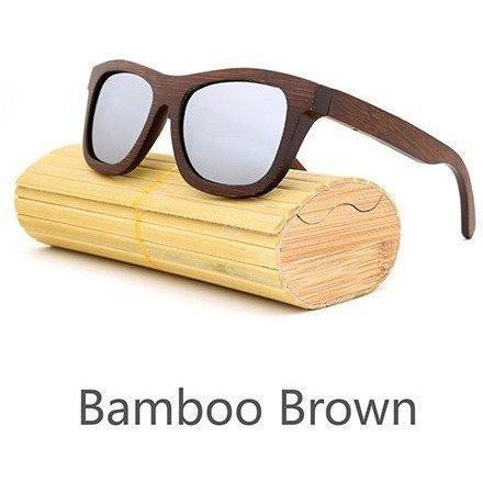 Image of New Handmade Bamboo Sunglasses Alpha Bargain Silver 1