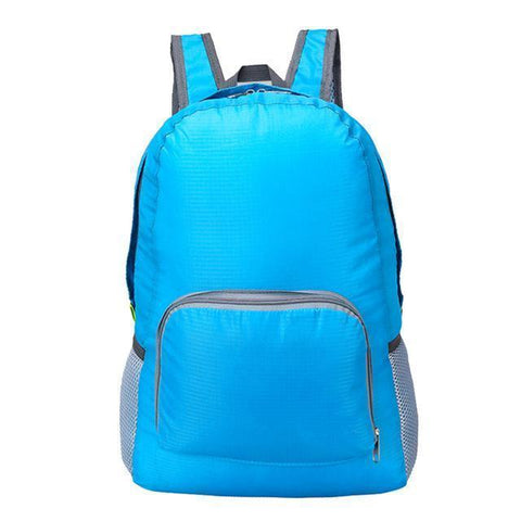 Lightweight Foldable Waterproof Backpack Alpha Bargain Sky Blue