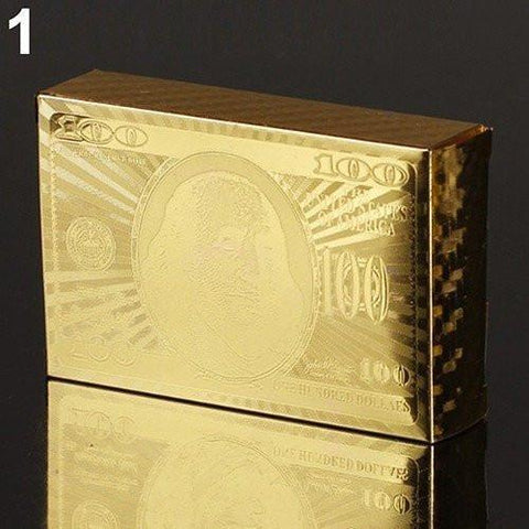 Image of Luxury 24K Gold Foil Poker Playing Cards Alpha Bargain