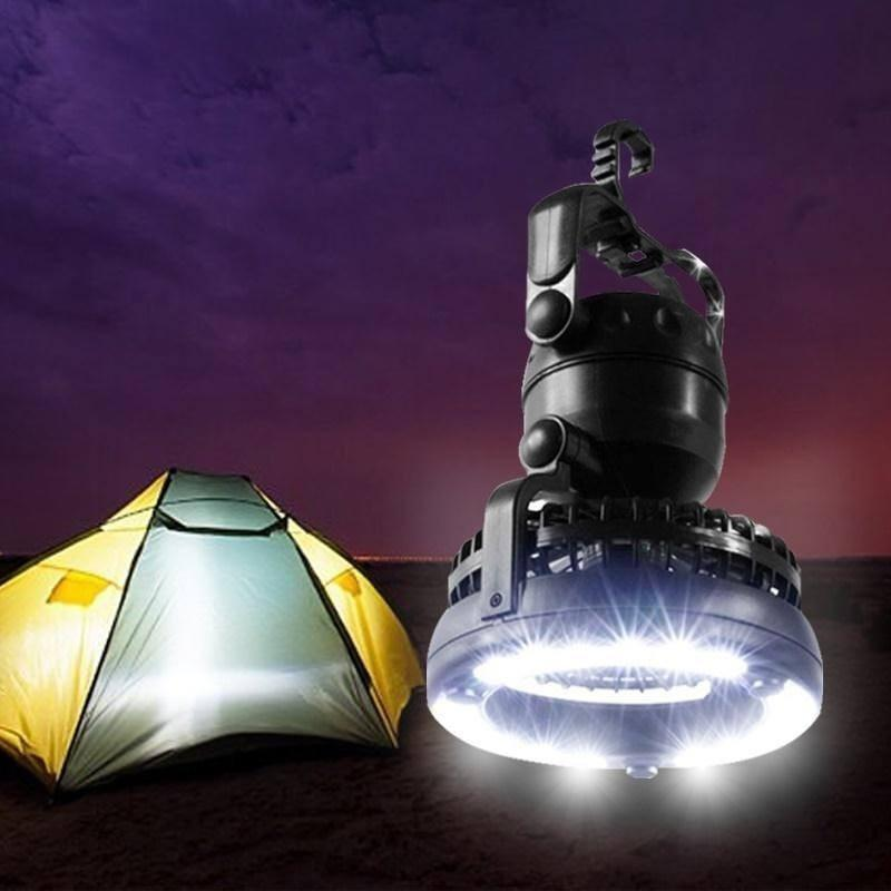 Portable LED Camping Lantern with Ceiling Fan - Alpha Bargain