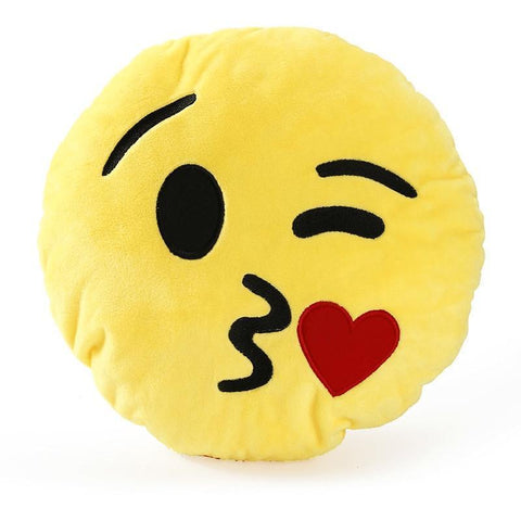 Image of High Quality Emoji Pillow Cushion Alpha Bargain kissy face