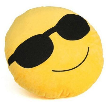 Image of High Quality Emoji Pillow Cushion Alpha Bargain cool guy