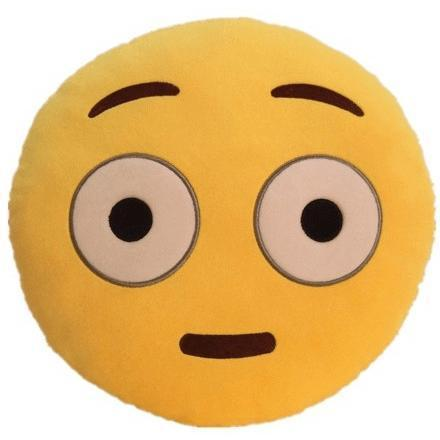 Image of High Quality Emoji Pillow Cushion Alpha Bargain confused/shocked