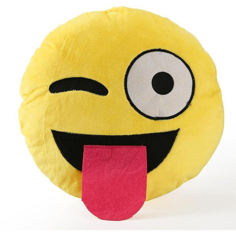 Image of High Quality Emoji Pillow Cushion Alpha Bargain tongue out