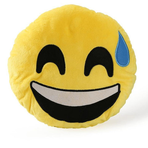 Image of High Quality Emoji Pillow Cushion Alpha Bargain nervous