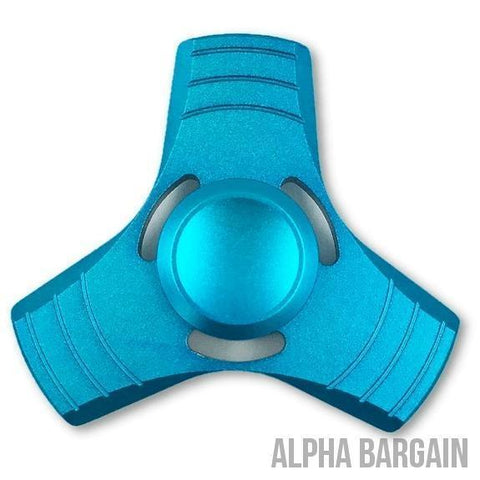 Image of AIRO Fidget Spinner Toy EDC Alpha Bargain Blue No Box