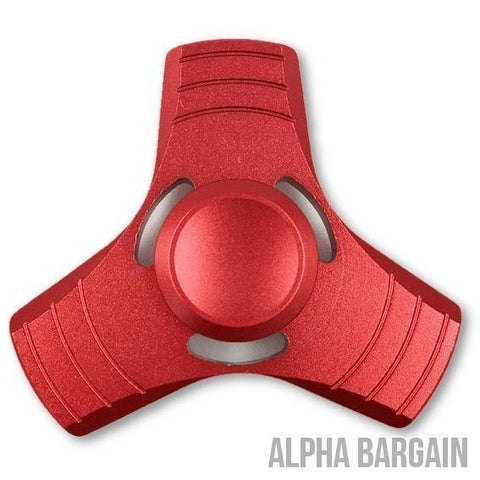 Image of AIRO Fidget Spinner Toy EDC Alpha Bargain Red No Box