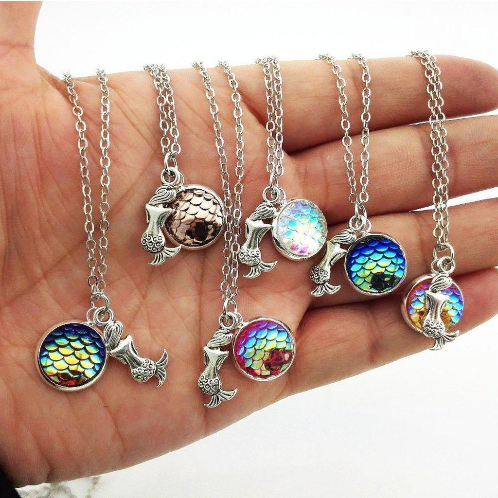 Mermaid Scale Necklace - 12 colors - Alpha Bargain