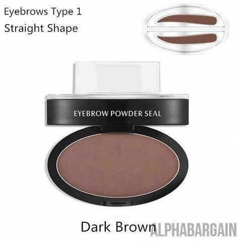 Image of Amazing Waterproof Eyebrow Stamp Vital Survivalist Dark Brown Straight Shaped
