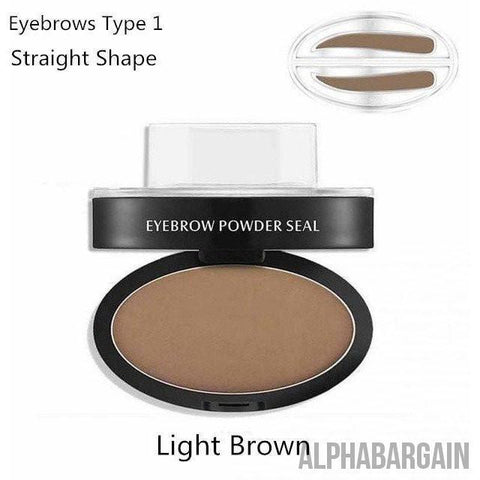 Image of Amazing Waterproof Eyebrow Stamp Vital Survivalist Light Brown Straight Shaped