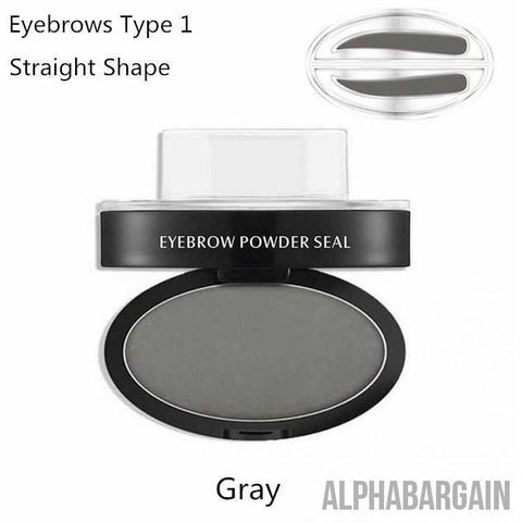 Image of Amazing Waterproof Eyebrow Stamp Vital Survivalist Gray Straight Shaped