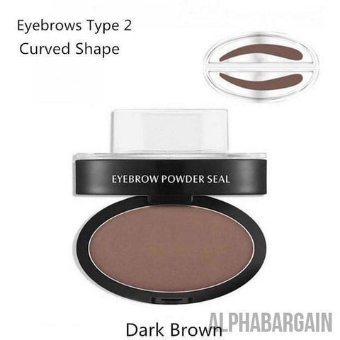 Image of Amazing Waterproof Eyebrow Stamp Vital Survivalist Dark Brown Curved Shape