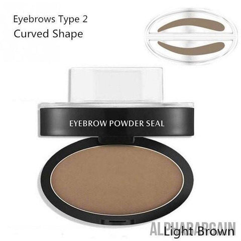 Image of Amazing Waterproof Eyebrow Stamp Vital Survivalist Light Brown Curved Shape