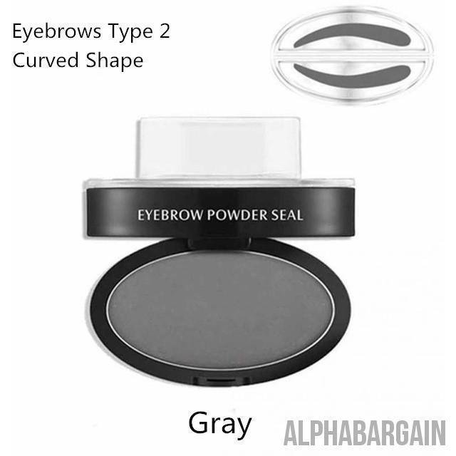Amazing Waterproof Eyebrow Stamp Vital Survivalist Gray Curved Shape