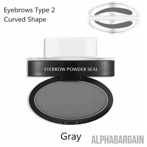 Image of Amazing Waterproof Eyebrow Stamp Vital Survivalist Gray Curved Shape
